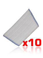packs of 10 microfibre mop heads, 300mm wide