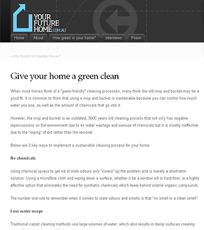 Give your home a green clean article