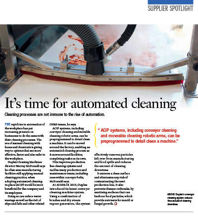 It's the time for automated cleaning
