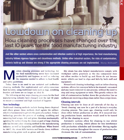 Lowdown on Cleaning Up