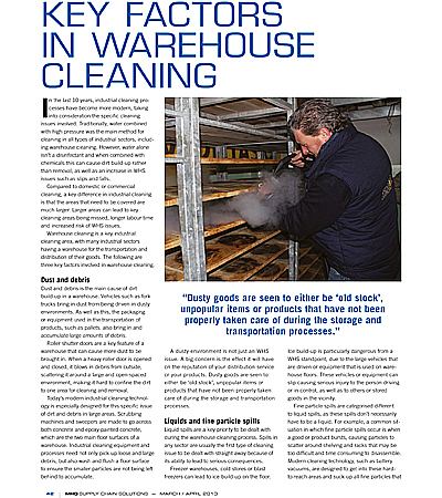 Key Factors in Warehouse Cleaning