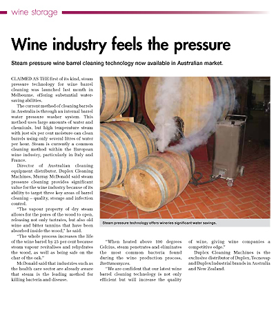 Wine Industry feels the pressure