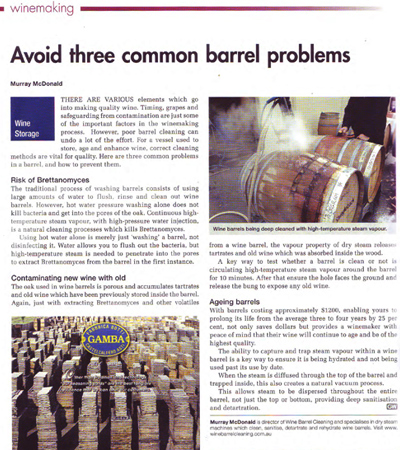 Avoid three common barrel problems