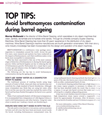 Top Tips: Avoid Brettanomyces Contamination