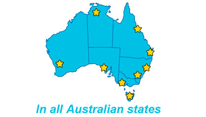 Duplex Cleaning offices in all states within Australia