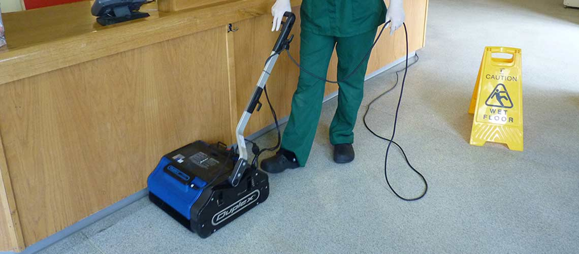vet clinic cleaning with vapourised, high temperature steam, effectively removes dirt and sanitizes
