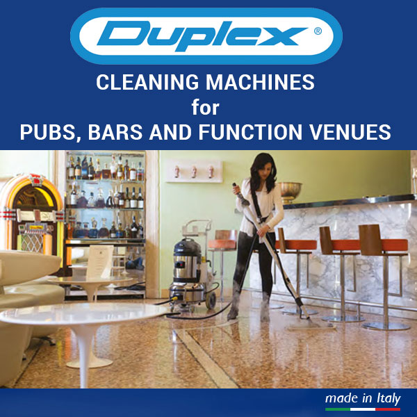 pubs, bars and function venues cleaning equipment banner