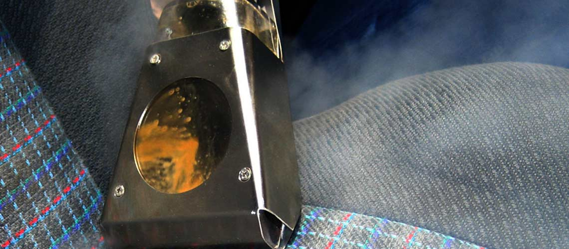 steam vapour- perfect for automotive detailers who clean vehicle interiors