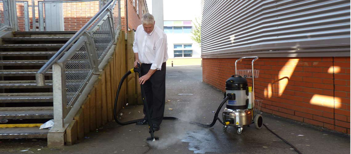 professional grade cleaning equipment to remove dirt, gum and graffiti from function centres and convention venue outside surfaces