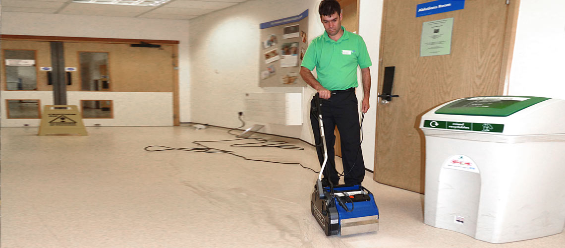 machinery for cleaning hospital foyers