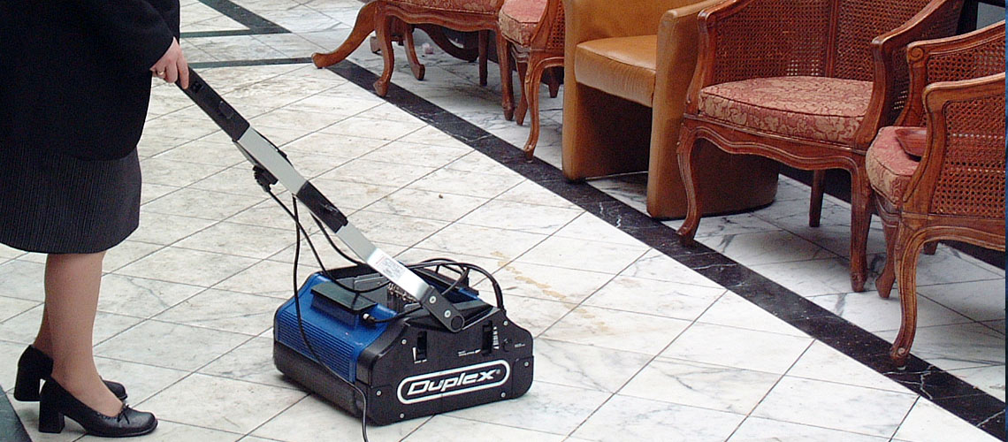 remove accumulated dirt and grime from hard surfaced floors within hotels and accommodation facilities, using puropse-designed steam vapour cleaning equipment