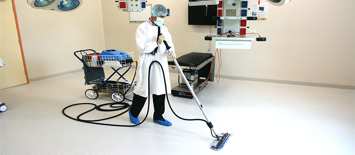 medical centre patient treatment room cleaning