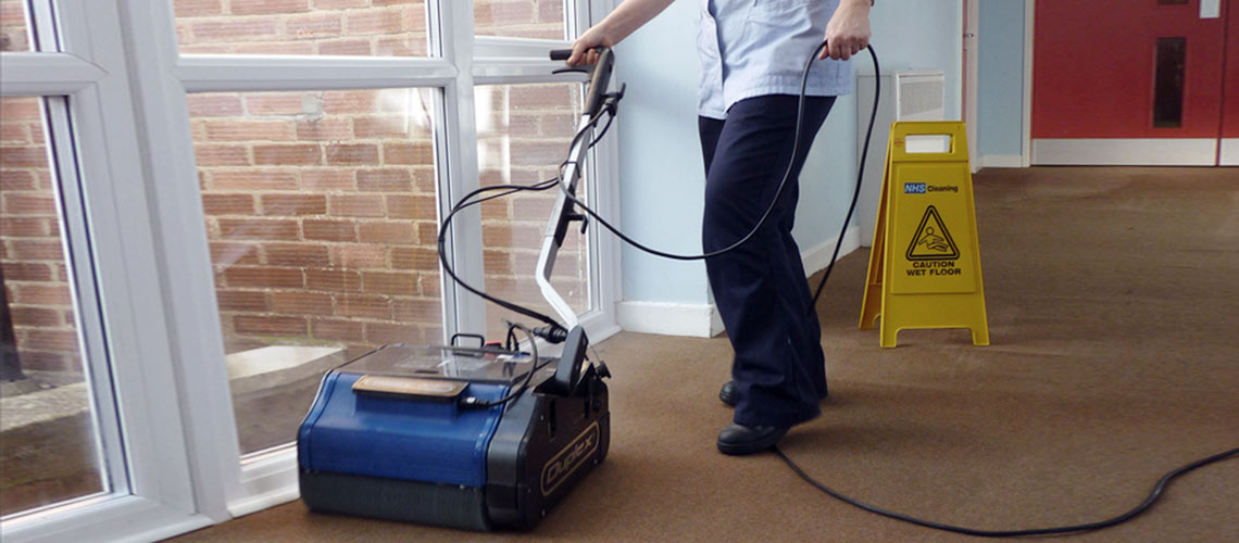 clean retirement home traffic areas effectively with minimal disruption, using high temperature, nearly-dry steam vapour