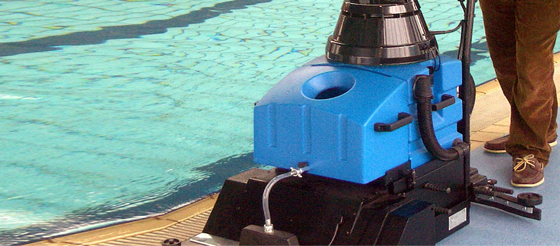 cleaning machinery designed to give professional level cleaning results when used throughout swim centres and aquatic complexes