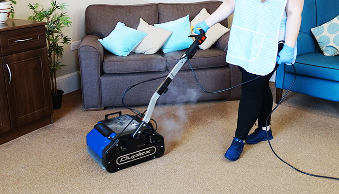 Carpet Cleaning with Duplex Floor Cleaner