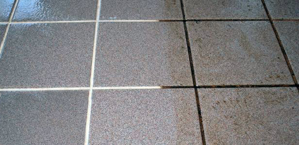 tile and grout cleaning equipment results- a before and after photo