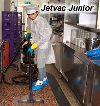 a portable, agile steam cleaning machine- the Jetvac Junior is ideal for cleaning complete restaurants, coffee shops, lunch bars and cafes