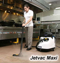 Jetvac Maxi pressurised steam vapour cleaner, for industrial kitchens and public food service venues