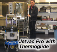 deep clean cafes and restaurants- sanitise kitchens, dining rooms and office areas, with the Jetvac Professional