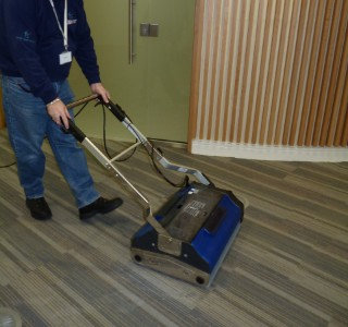 Largle floor cleaning with Duplex floor cleaner