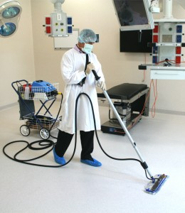 thermoglide steam mop- used on ward floors and theatre surfaces, helps control outbreaks of infections within hospitals