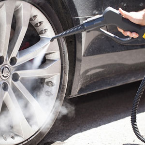remove all contaminants from vehicle wheels. DIsplace dirt, road grease and even tar flecks or bitumen, using the power of dry steam vapour and our powerful cleaning machine accessories