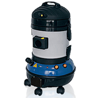 a wet vacuum, dry vacuum cleaner and steam cleaning machine all in one- this unit cleans oil and grease within engine bays, removes road debris and flecks of tar from deco, as well as sanitizing all interior floors and upholstery