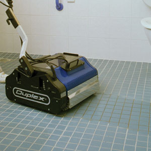 cleaning machines suited to sanitizing and removing grime from floor tiles