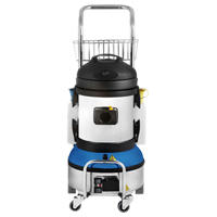 professional industrial grade steam cleaner, with a single action cleaning method to remove debris and sanitize floors quickly
