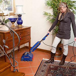 high temperature, pressurised steam vapour cleaning machine, suited to household floors