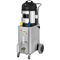 powerful commercial grade mould blaster- which outputs nearly-dry heated steam vapour to neutralize odours and sanitize fabrics, upholstery, mattresses and floors