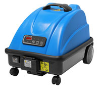 commercial and industrial cleaning of contaminated or soiled floors is easy with the jetsteam maxi rolling vacuum cleaner, designed to be powerful yet portable for agility and easy transport