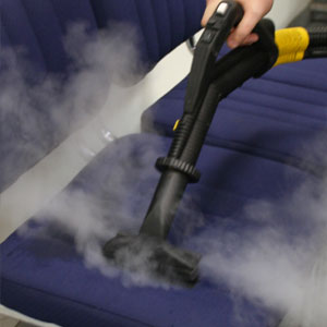 sanitize and remove grime from suede leather with our dry steam vapour fabric cleaning equipment, perfect for maintaining the inherent properties of different leathers