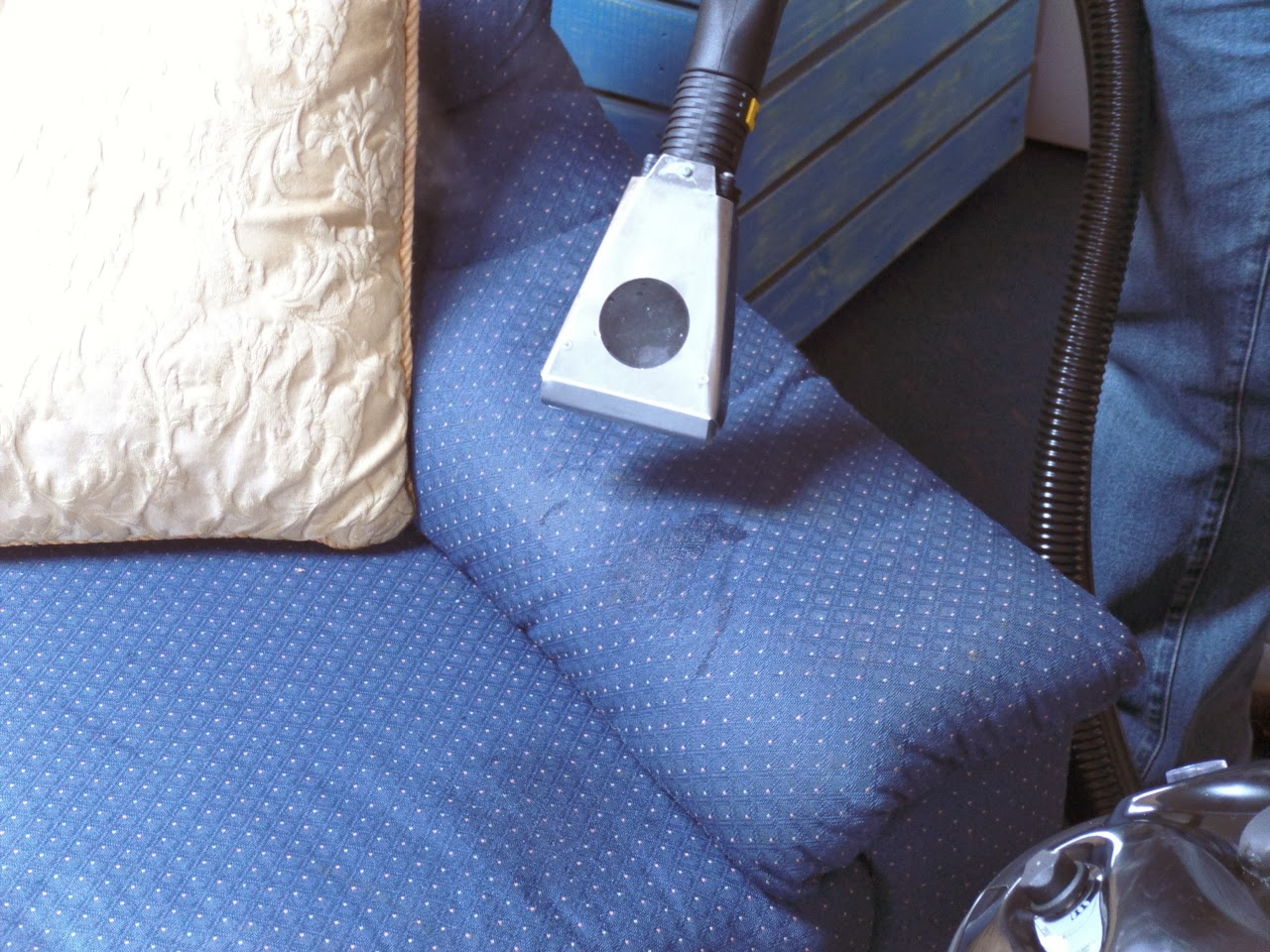 cleaning equipment for use on upholstery, within aged care homes