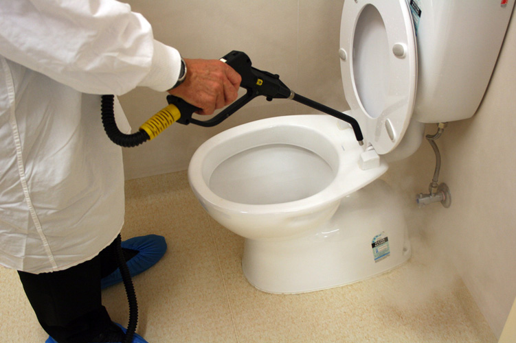 Toilet touch point cleaning
