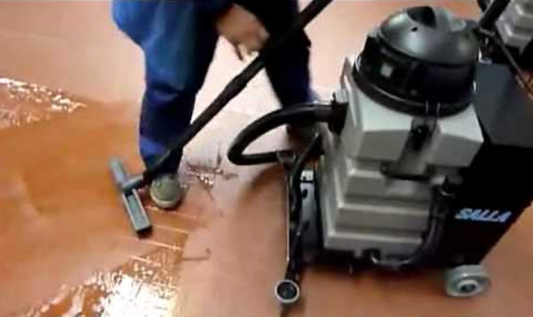 Hard and cement floor cleaning