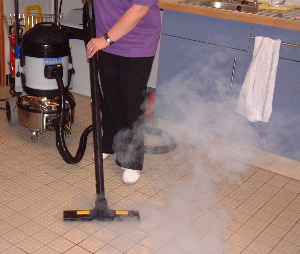 kitchen tiles cleaning with vacuum