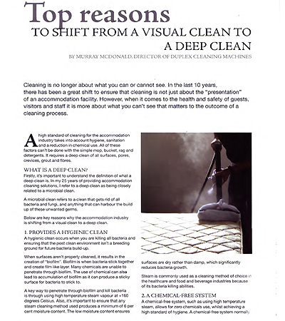 compelling reasons to select deep cleaning as the preferred option over surface cleaning