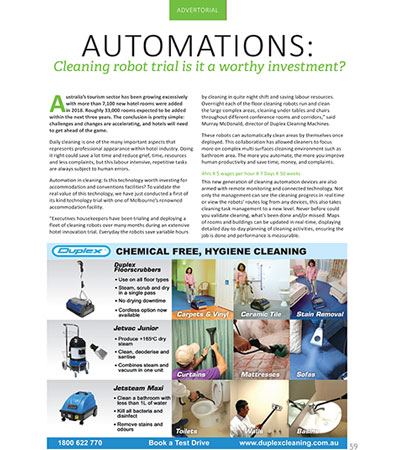 Automation - Cleaning robot trial is it a worthy investment?