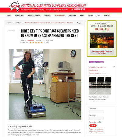 article which discusses the three main tips to making a contract cleaning business stand out from its competitors