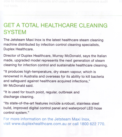 Get a total healthcare cleaning system