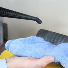 Microfibre Cloth in action 1