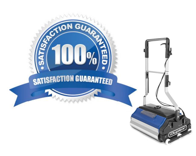 escalator cleaning machines come with a factory warranty for 12 months