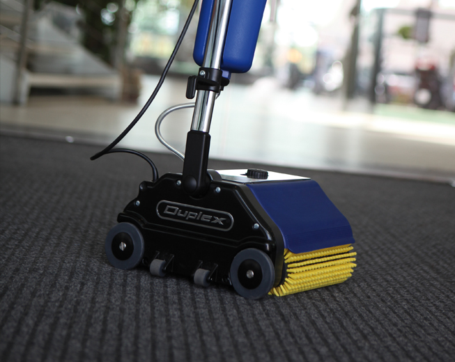 remove dirt from outdoor patio decks and poolside areas, with this lightweight household floor scrubbing and cleaning machine