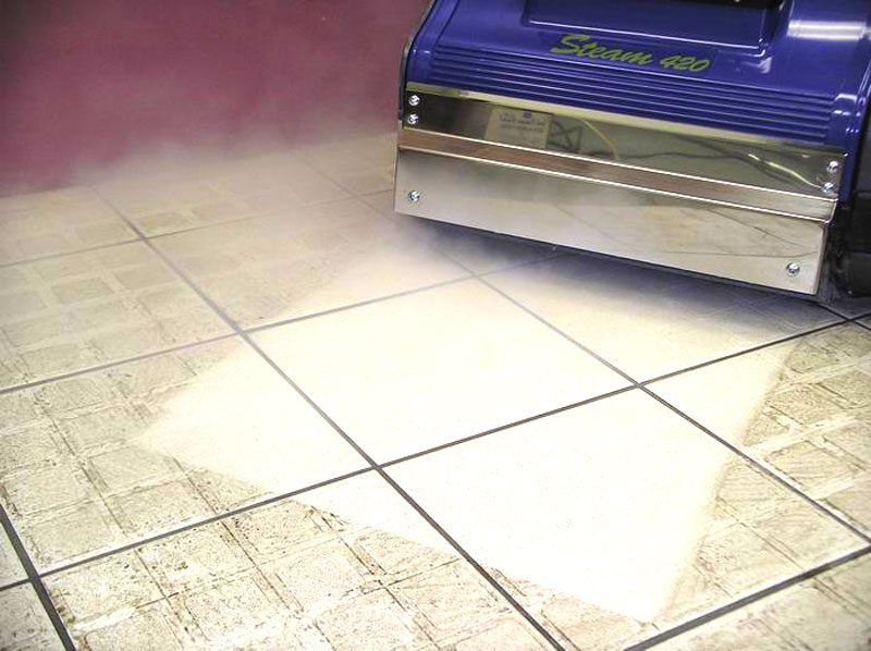 Steam Kit sanitises and deep cleans into pores of hard floors