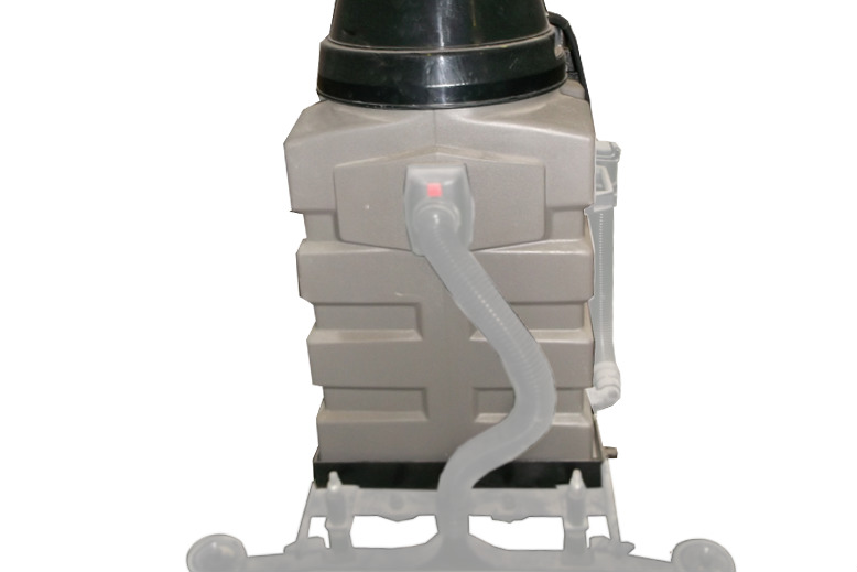 high capacity vacuum drum gives longer times between emptying, so more work is done in the same time