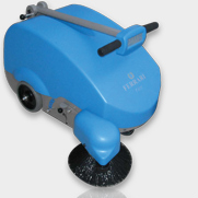 battery powered, hard surface sweeper for warehouses, carparks and multi-use buildings