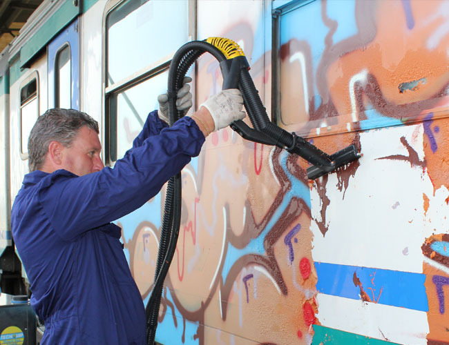Automotive industry graffiti removal