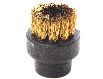 28mm brass accessory brush for use with high powered steam vapour cleaning equipment