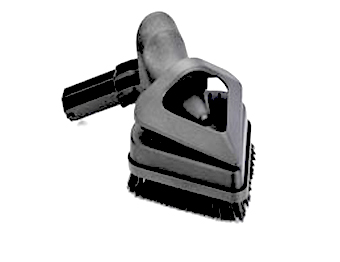 triangular accessory brush for commercial steam cleaning equipment